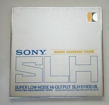 "Sony SLH-11-1100-BL 10 1/2"" Reel 1/4"" Recording Tape 3600 FT Metal Reel TESTED"