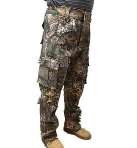 Bowhunt Cotton Cargo Pants OveralLS Bionic Camouflage Trousers Bigger Thicken