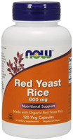 NOW FOODS BIO Red Yeast Rice, 600mg - 120 Veg Kapseln, VERSAND WELTWEIT