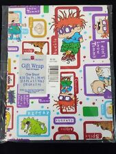Vintage American Greetings Gift Wrap Rugrats White 1 Sheet 8.33 Sq. Ft.