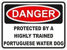 Dog Breed PORTUGUESE WATER DOG Danger Sticker Pet For Bumper Locker Car Door