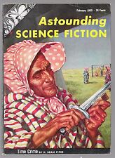 ASTOUNDING SCIENCE FICTION PULP FEBRUARY & MARCH 1955 Time Crime by H Beam Piper