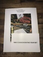 United States Postal Service Mint Set Of 1980 Commemorative And Special Stamps