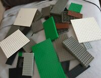 LEGO Thick and thin Assorted Mixed BASE PLATES grates etc 540g