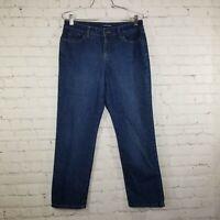 Bandolino Womens Jeans Size 8p Petite Mandie High Rise Mom Dark Wash Stretch