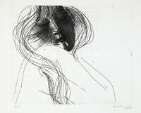 Emilio GRECO - Donna allo specchio - 1967 - incisione originale firmata  datata