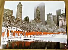 Christo & Jean Claude The Gates Central Park Project  13x10 Offset Lithograph