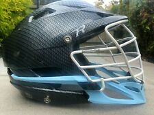 Carbon Fiber Cascade R Lacrosse Helmet Black/Carolina Blue