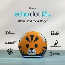New Amazon Echo Dot 4th Generation Kids Edition with Parental Controls - Tiger