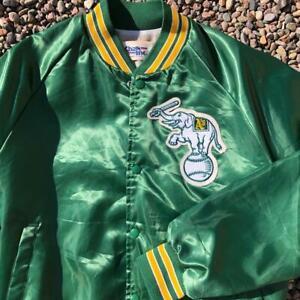 Rare VTG 80s/90s Chalk Line Oakland Athletics A's Elephant Logo Satin Jacket M