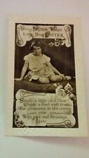 """Vintage photograph postcard """"loving birthday wishes to my dear sister"""". Unposted"""