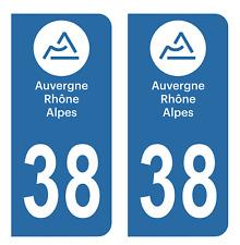 Autocollant Stickers plaque d'immatriculation véhicule auto département 38 Isère