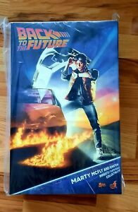Ready to Ship Hot Toys MMS573 BACK TO THE FUTURE 1/6 MARTY MCFLY AND EINSTEIN