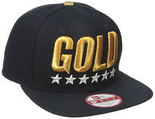 NEW ERA Gold 9Fifty Snapback Cap Dark Navy Blue USA Olympic Team United States