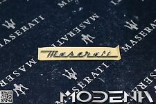 Original Maserati Emblem Schriftzug Scritta Innenraum klein QP V Gransport 4200