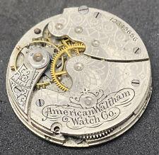 Waltham Pocket Watch Movement Seaside 1891 Hunter 0s 7j Parts Antique F2857