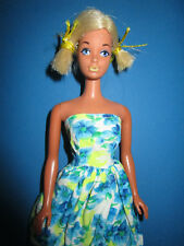 B263-ALTE MALIBU BARBIE STEFFI FACE YELLOW LIPS MATTEL KOREA ALTES KLEID+SCHUHE