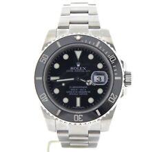 Rolex Uboot Herren Edelstahl Armbanduhr Schwarze Keramik Blende Neu Stil 116610
