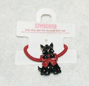 New GYMBOREE HOLIDAY FRIENDS Scottie Dog Ponytail Holder