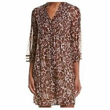 NWT DIANE VON FURSTENBERG DVF Layla Silk Chiffon Print Dress - Size 2 (XS)