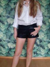 Sexy Lederhose Hotpants 34 36 schwarz Leder Hose kurz Leder Pants Höschen Zara