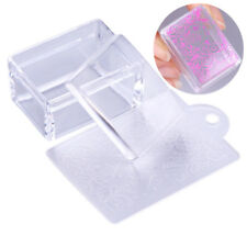 Clear Rectangle Silicone Jelly Nail Stamper w/ Scraper Stamping Tool Manicure