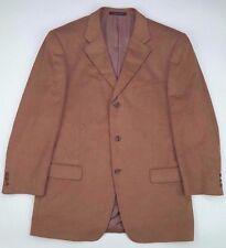 Ermenegildo Zegna Blazer 42R Soft Tan Silk Wool Cashmere Beige 3 Button Mens Sz