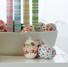 Bag of 12 Decorated Easter Eggs with Hangers 2.5 in rzea 3716023 New Raz