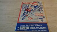 1962-63 Baltimore Clippers @ Buffalo Bisons AHL Hockey Program - GD
