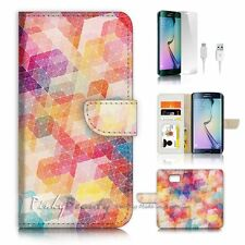 ( For Samsung S7 Edge ) Wallet Case Cover P0355 Abstract Cell
