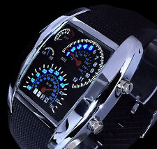 Digitaluhr Herrenuhr Armbanduhr Uhr blaue Led' s in Tacho Optik Blaues Licht 3
