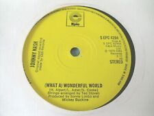 "JOHNNY NASH - (WHAT A) WONDERFUL WORLD  7""  76  VG"