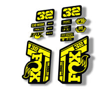 FOX 32 Forks Suspension Factory Style Decal Kit Sticker Adhesive Set Santa Cruz