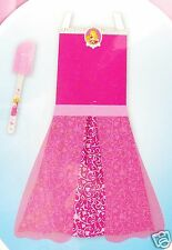 Disney Princess Pink Apron Dress Up Play Set Sleeping Beauty Aurora 2pc New