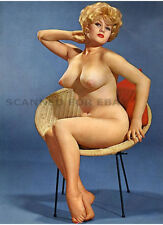 Model nude girl print busty leggy art woman image photo BLONDE-picture