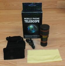 Unbranded Mobile Phone Telescope With Cloth & Clip in Box **READ**