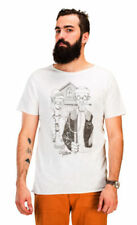 Camisetas de hombre en color principal blanco de algodón orgánico