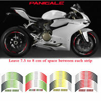 "Wheel Decals Reflective Waterproof 17"" stickers For DUCATI PANIGALE 12PCS/set #P"