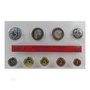 *** DM KMS DEUTSCHLAND 1973 D München Polierte Platte PP Kursmünzensatz in Folie