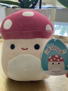 Squishmallow Malcolm The Mushroom 5 Inch Kellytoy Soft Plush - FREE SHIPPING
