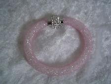 Armband rosa mit Magnetverschluss und Straß