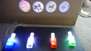 24 PCS Finger TORCH Up Ring Laser LED Party Favors Night Glow Beam New DESIGN