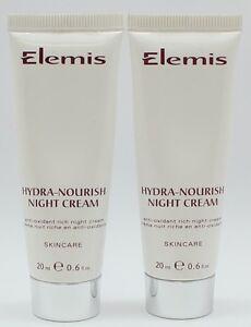 2PK ELEMIS HYDRA-NOURISH NIGHT CREAM 0.6 OZ SEALED 100% AUTHENTIC
