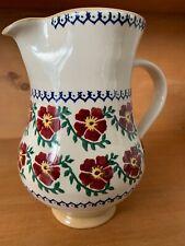 Nicholas Mosse Hand Made Irish Pottery Pitcher, Old Rose Pattern