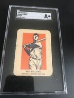 TED WILLIAMS 1952 Wheaties Action Hand Cut - SGC graded Authentic Boston Red Sox
