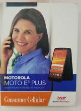 Consumer Cellular Motorola Moto E5 Plus Smartphone 32GB  Hearing Aid Compatible
