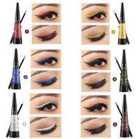 6 Colors Metallic Shiny Smoky Eyes Eyeshadow Waterproof Glitter Liquid Eyeliner