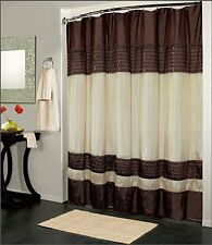 Modern Designed Shower Curtain Brown and IvoryTub Bathroom Decor Home 70 X 72