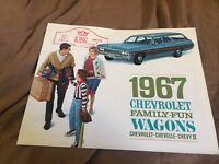 1967 Chevy Chevrolet Impala Caprice Malibu Station WagoN Brochure Prospekt