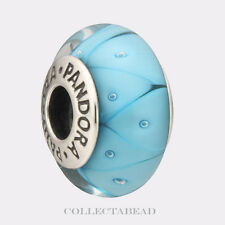 Authentic Pandora Sterling Silver Murano Turquoise Looking Glass Bead 790924